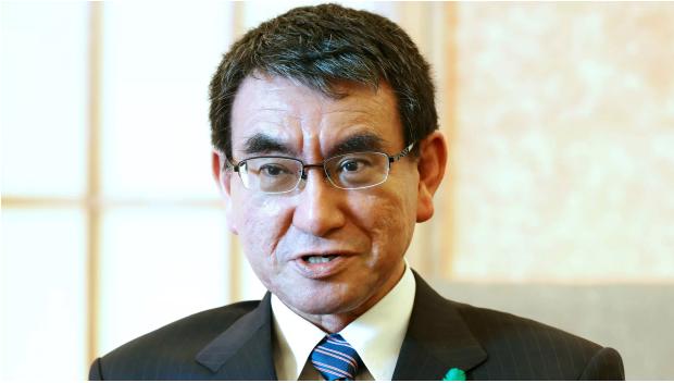 Ngoại trưởng Nhật Taro Kono lo ngại Triều Tiên muốn câu giờ để hoàn thiện chương trình vũ khí hạt nhân. Ảnh: NIKKEI
