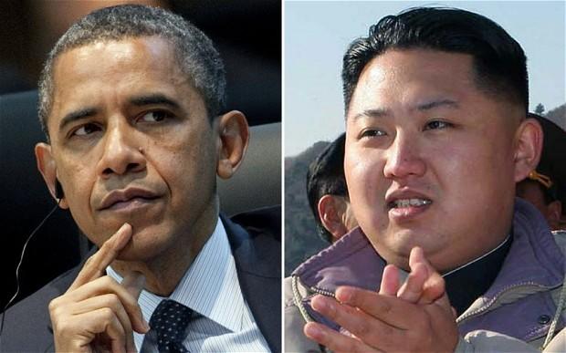 Theo ông Rodman thì ông Kim (phải) từng muốn đối thoại với ông Obama (trái) 5 năm trước. Ảnh: TELEGRAPH