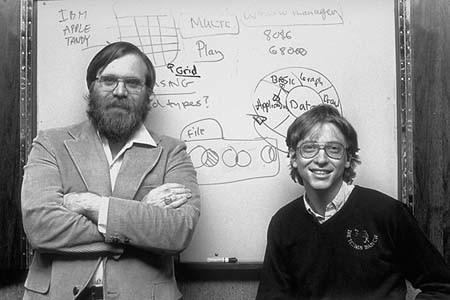 Hai người bạn Paul Allen (trái) và Bill Gates (phải). Ảnh: GT
