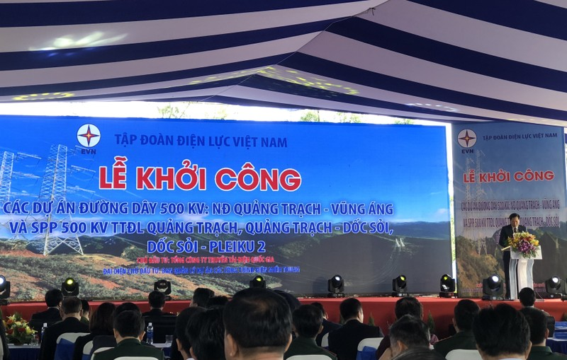 Khởi công dự án điện gần 12.000 tỉ đi qua miền Trung - ảnh 1