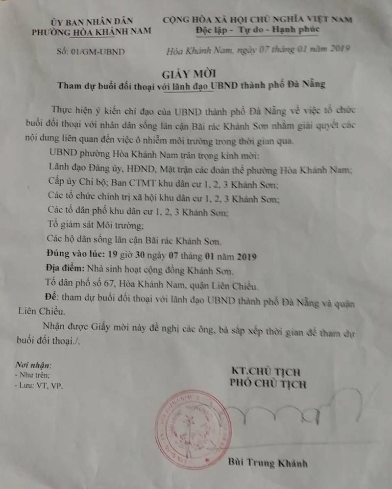 Đà Nẵng đối thoại với dân về bãi rác Khánh Sơn bất thành - ảnh 2