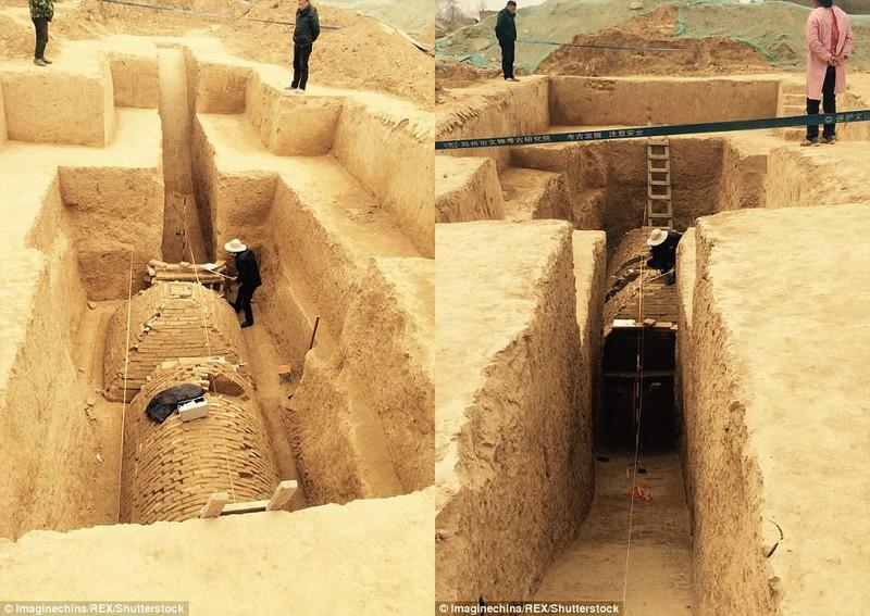Phát hiện ngôi mộ kim tự tháp bí ẩn ở Trung Quốc - ảnh 2
