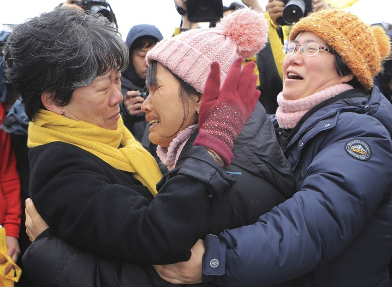 Phà Sewol chính thức 'trở về' sau ba năm - ảnh 3