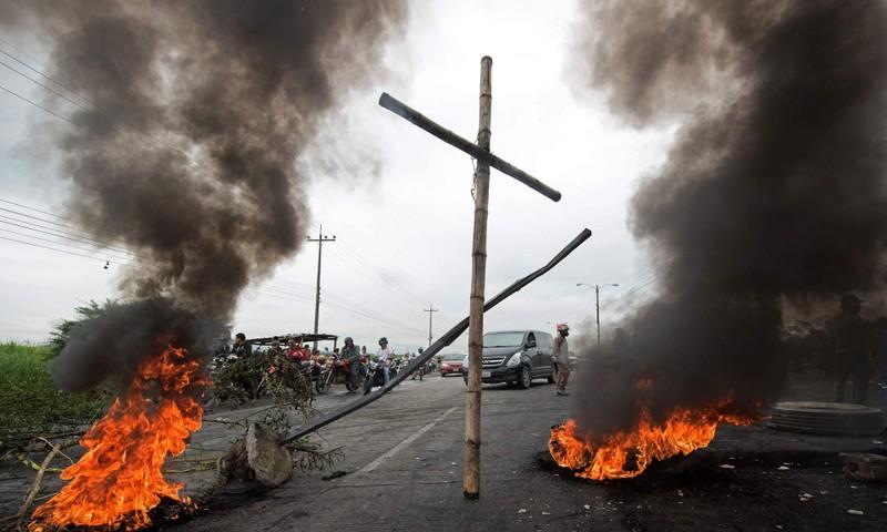 Cảnh sát Honduras chống lệnh chính phủ - ảnh 1