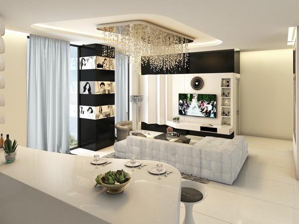 Choáng ngợp căn hộ trắng 20 tỷ đồng của Ngọc Trinh - ảnh 1