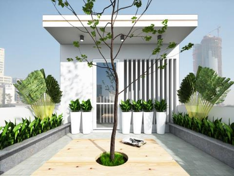 Ngôi nhà 4 tầng ngập tràn mảng xanh đẹp mê ly - ảnh 7