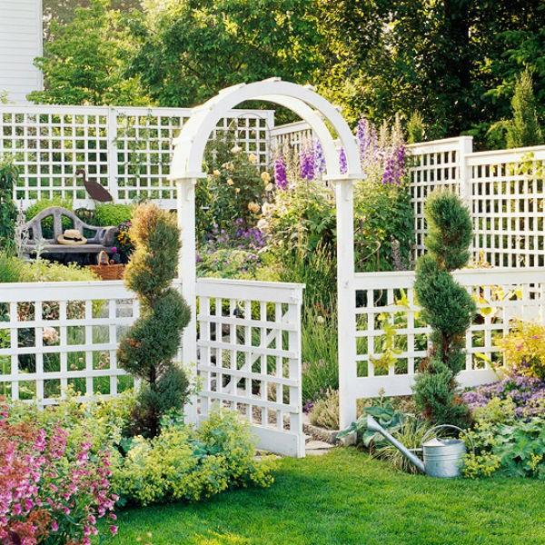 Lối vào nhà vườn thơ mộng với cổng hoa - ảnh 4