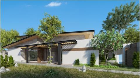 Ngôi nhà 1 tầng hòa quyện với thiên nhiên - ảnh 1