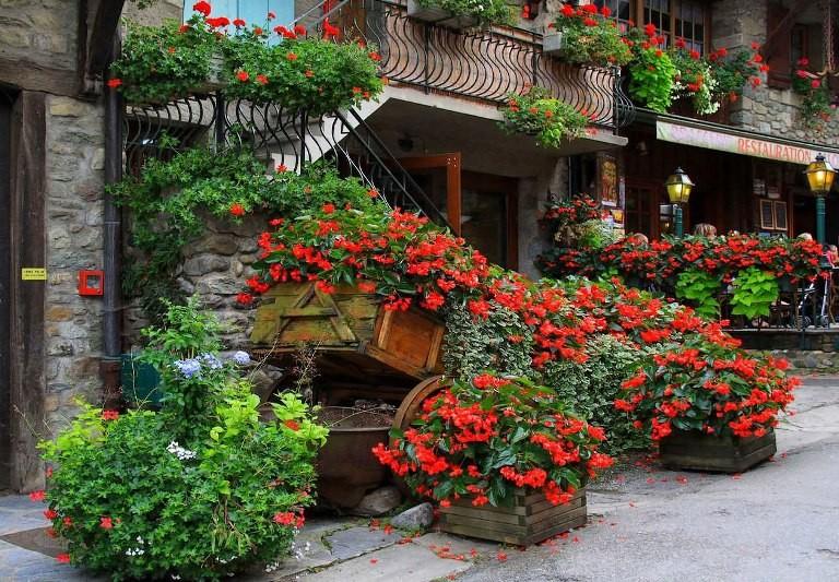 Ngất ngây với những ngôi nhà phủ hoa đầy lối đi - ảnh 12