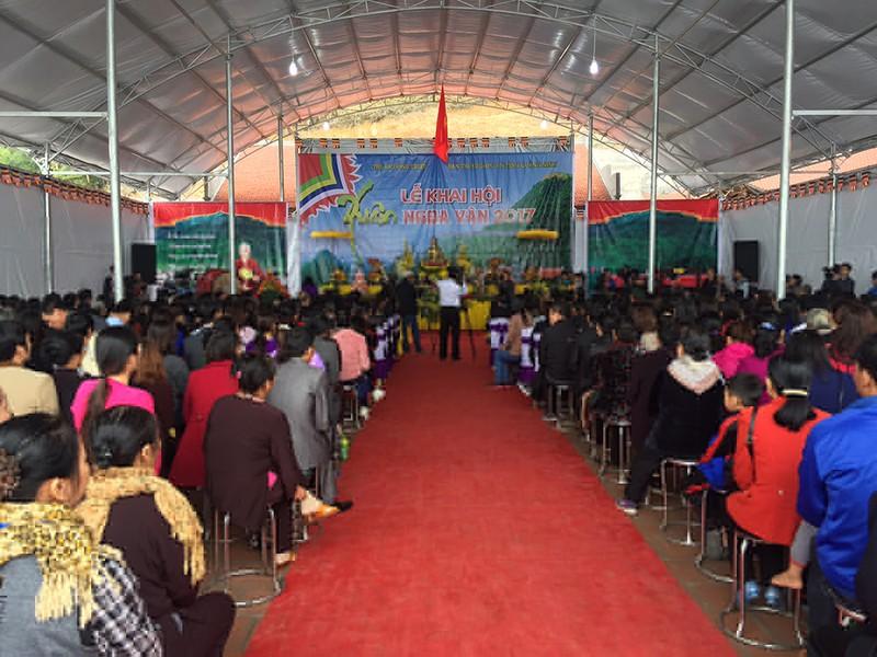 Khai mạc hội xuân Ngọa Vân trên đỉnh núi Bảo Đài - ảnh 1