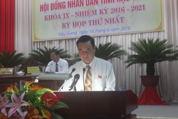 Ông Huỳnh Thanh Tạo tái đắc cử chủ tịch HĐND tỉnh Hậu Giang  - ảnh 2