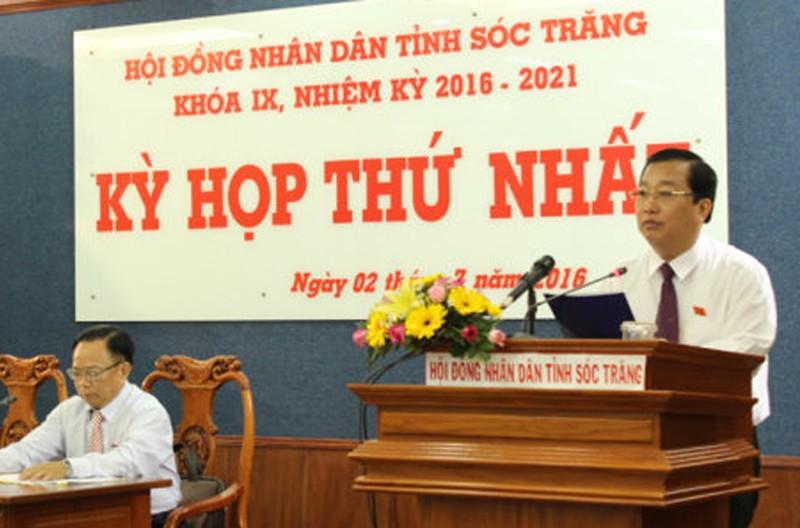 ông Trần Văn Chuyện - tân Chủ tịch UBND  tỉnh Sóc Trăng