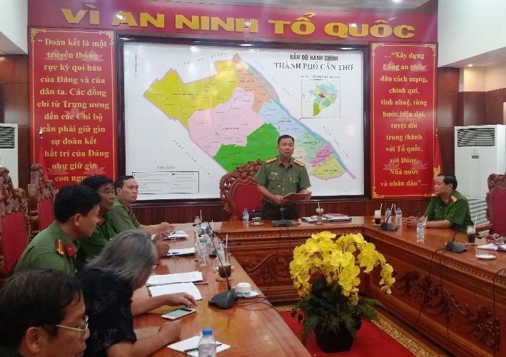 Đại tá Trần Ngọc Hạnh cho biết đang mở rộng điều tra để làm rõ đồng phạm- ảnh GIA TUỆ
