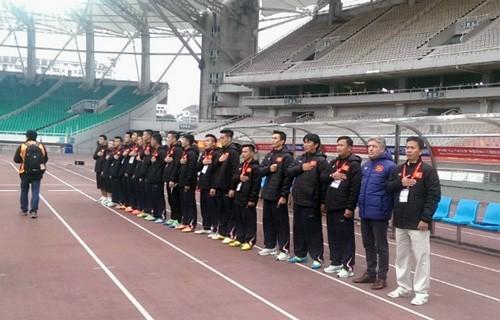 Hoàng Thanh Tùng lập siêu phẩm cho U-22 Việt Nam - ảnh 1