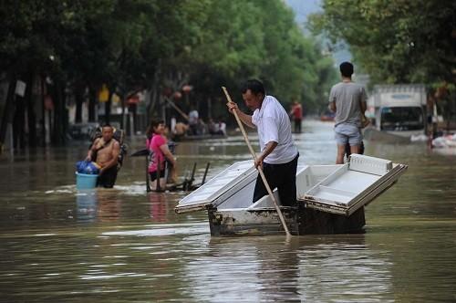 Lũ lụt liên tiếp ở Trung Quốc