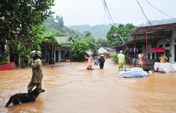 Phó Thủ tướng trực tiếp thị sát tình hình mưa lũ ở Lào Cai - ảnh 2