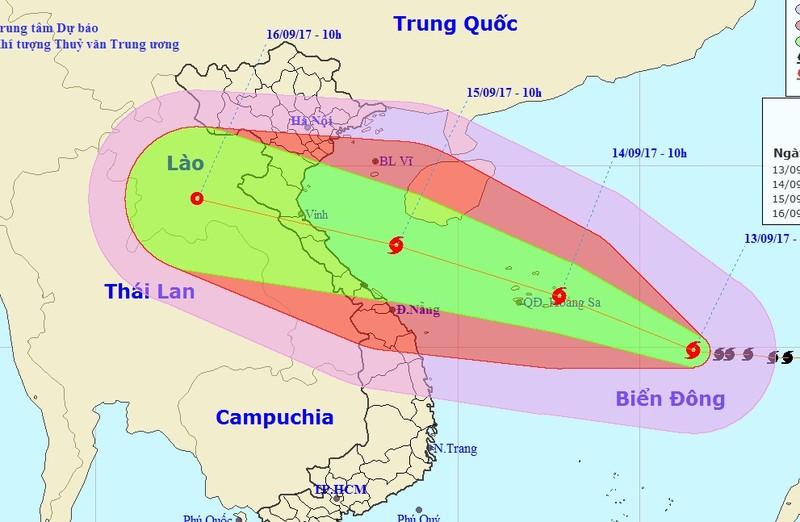 Khẩn: bão cấp 15 cực nguy hiểm vào biển Đông - ảnh 2