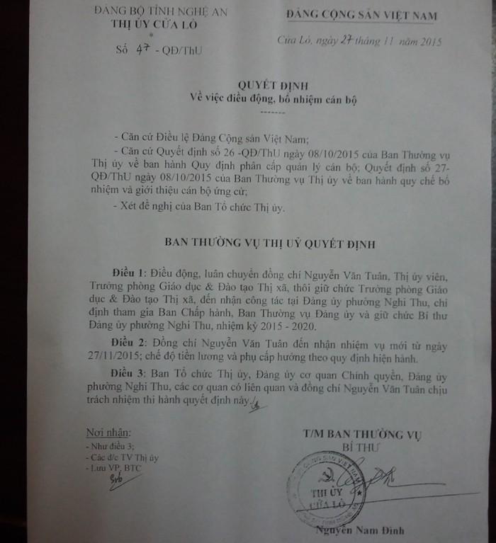 Chưa xử lý xong vụ trưởng phòng giáo dục từ chối ghế bí thư phường - ảnh 3