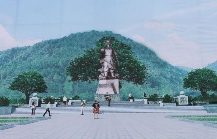 Xây dựng tượng đài vua Mai Hắc Đế cao 10,8 m bên bờ biển - ảnh 1