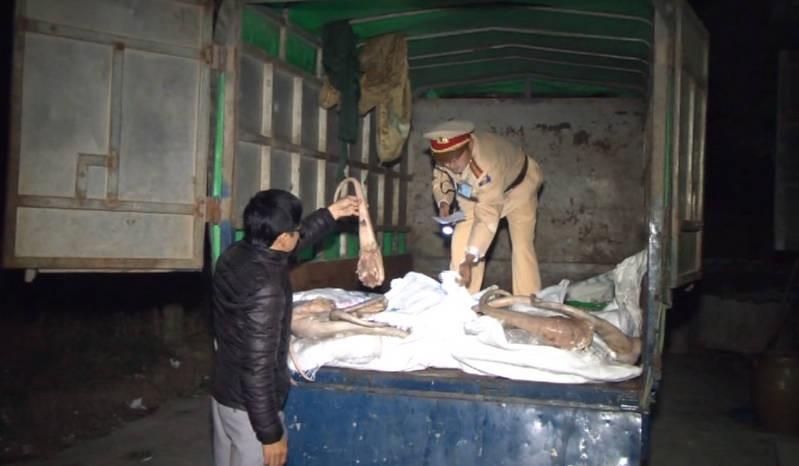 Bắt giữ xe tải chở 6 tấn xương thối ra Hà Nội tiêu thụ - ảnh 1