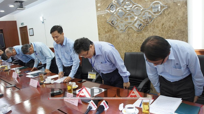 Họp báo của Formosa: Lãnh đạo công ty từ chối nhiều câu hỏi - ảnh 1