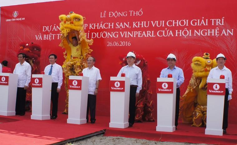 Phó Thủ tướng dự lễ động thổ dự án trên 900 t
