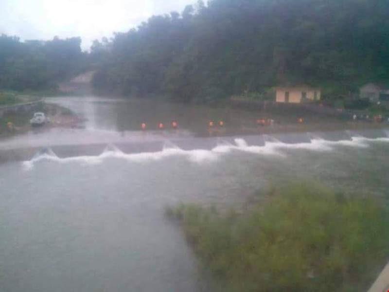 Khu vực cầu Pác Hoóc - nơi cơ lũ về bất ngờ cuốn làm ba nữ sinh Phan Thị Hải, Vũ Thị Xoa, Phan Thị Ngân (Trường ĐH Ngoại thương Hà Nội) thiệt mạng