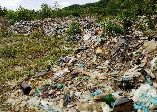 Xử lý hơn 50 tấn rác có chữ Trung Quốc đổ trộm trong rừng - ảnh 1
