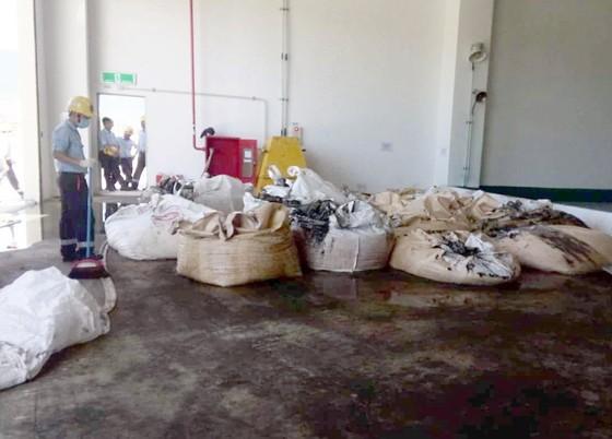 Chất thải trong nhà máy Formosa Hà Tĩnh.