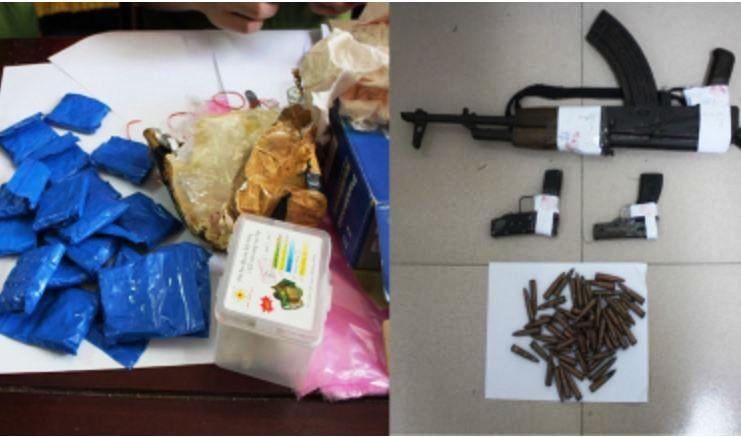 Mang súng AK cùng người Lào đi rao bán ma túy - ảnh 2