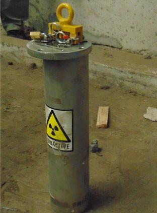 Hình ảnh nguồn phóng xạ đang bị thất lạc tại Nhà máy thép Pomina 3.
