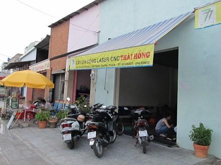 Cơ sở cắt gia công Thái Hồng nơi xảy ra vụ cướp táo tợn