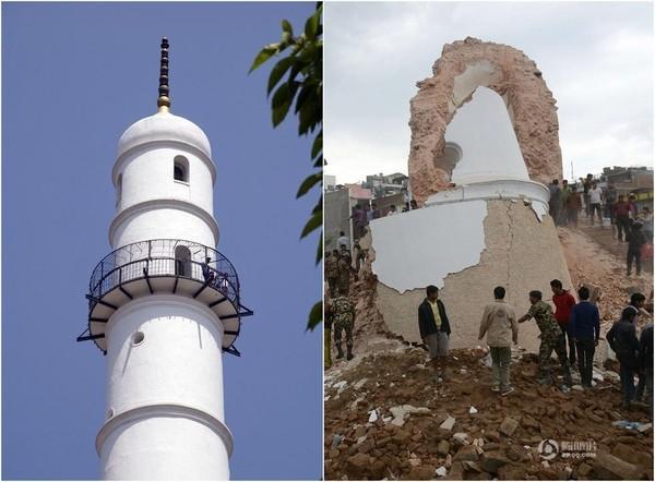 Chùm ảnh: Nepal trước và sau thảm họa động đất - ảnh 1