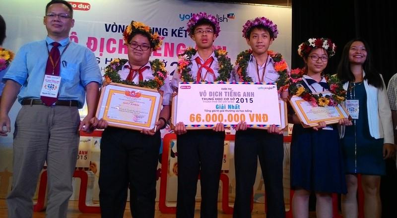 Học sinh trường Trần Đại Nghĩa vô địch cuộc thi tiếng Anh  - ảnh 1