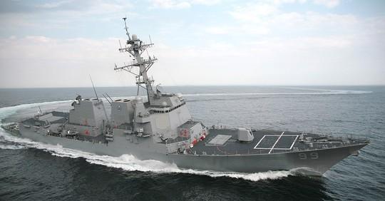Tàu khu trục USS Farragut của Mỹ. Ảnh: US Navy