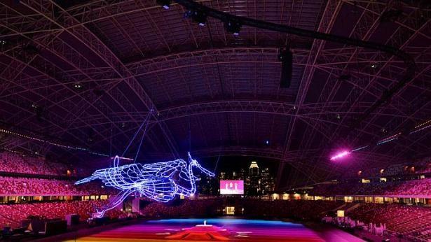 SEA Games Singapore: Hệ thống đèn chiếu laser hiện đại nhất thế giới - ảnh 2