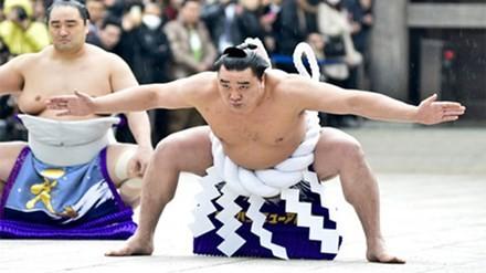 Võ sĩ Harumafuji Kohei gốc Mông Cổ đoạt danh hiệu Yokozuna của năm 2014.