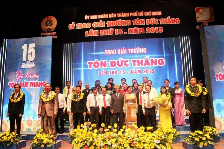 Vinh danh các công nhân đoạt giải thưởng Tôn Đức Thắng - ảnh 1
