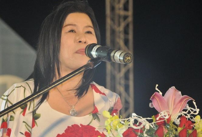 Bà Hà Thuý Linh tại một sự kiện được tổ chức tại TP. Đà Lạt-Ảnh: LÂM THIÊN