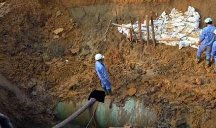 Đường ống nước sông Đà lại gặp sự cố - ảnh 1