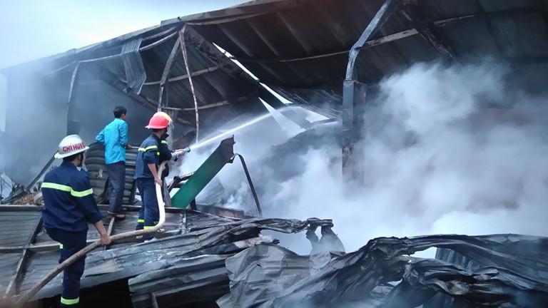 Huy động hàng trăm cảnh sát chữa cháy kho chứa gỗ dăm - ảnh 2