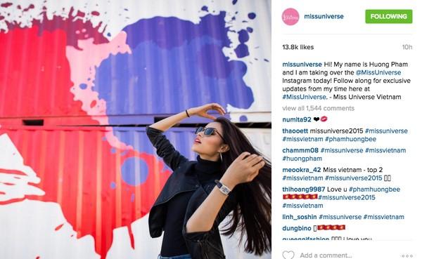 Gây sốt truyền thông, Phạm Hương được quản lý tài khoản instagram Hoa hậu Hoàn vũ - Ảnh 1.