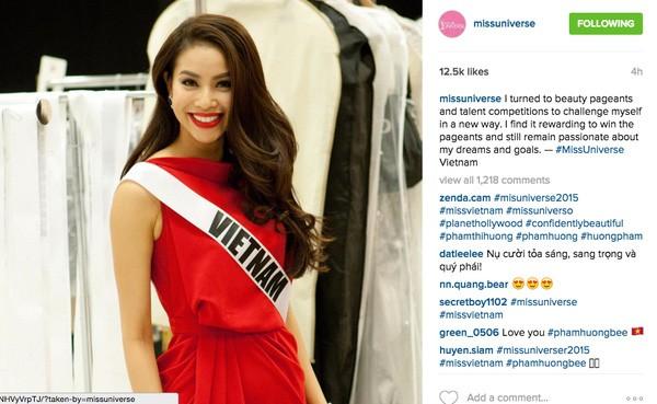 Gây sốt truyền thông, Phạm Hương được quản lý tài khoản instagram Hoa hậu Hoàn vũ - Ảnh 3.