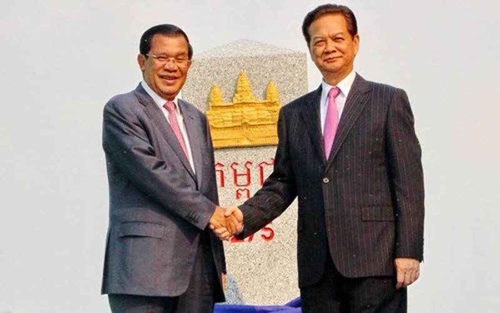 Khánh thành cột mốc  biên giới Việt Nam - Campuchia - ảnh 1