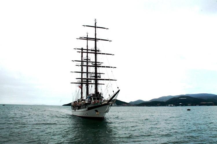 Chùm ảnh: Đón tàu buồm huấn luyện hải quân về nước - ảnh 3