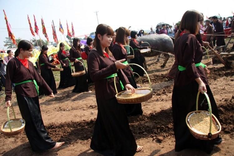 Khai hội 'Vua' xuống ruộng làm lễ Tịch điền - ảnh 16