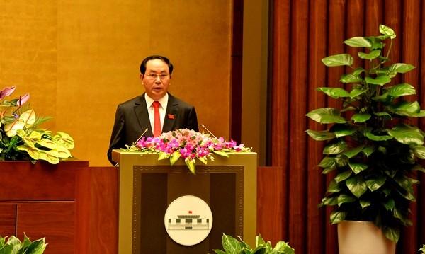 Chủ tịch nước đọc tờ trình miễn nhiệm Thủ tướng Nguyễn Tấn Dũng  - ảnh 1
