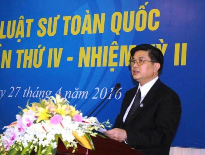 Liên đoàn Luật sư Việt Nam chính thức có chủ tịch - ảnh 1