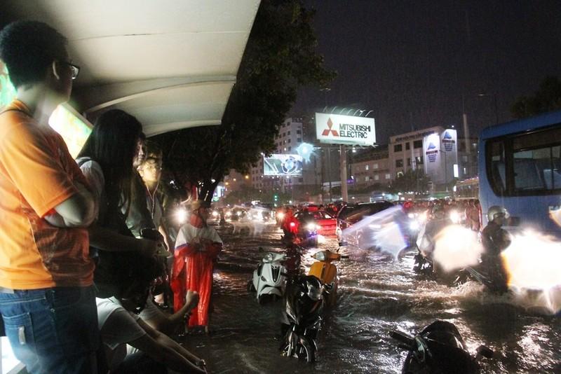 Chùm ảnh: Sân bay Tân Sơn Nhất bị biển nước vây quanh - ảnh 4