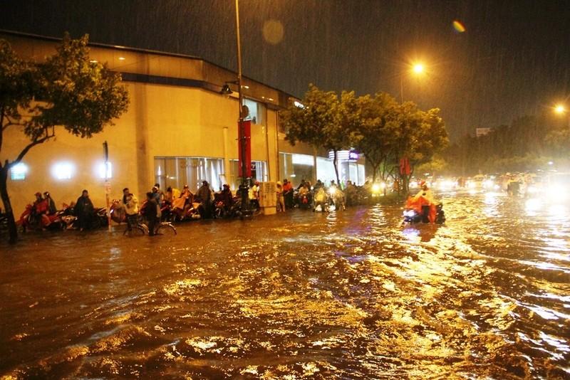 Chùm ảnh: Sân bay Tân Sơn Nhất bị biển nước vây quanh - ảnh 1